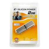 Накопитель Flash USB Drive Silicon Power LuxMini 720 2Gb Gold алюминий  ( Retail)