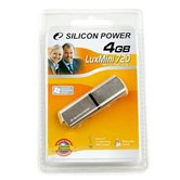 Накопитель Flash USB Drive  Silicon Power LuxMini 720  4Gb Gold алюминий  (Retail)