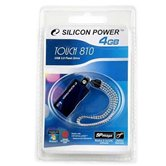 Накопитель Flash USB Drive Silicon Power Touch 810  4Gb Blue Retail
