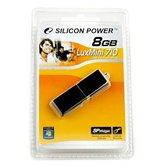 Накопитель Flash USB Drive Silicon Power  LuxMini 710 8Gb Black алюминий  ( Retail)