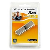 Накопитель Flash USB Drive  Silicon Power LuxMini 720  8Gb Gold алюминий  (Retail)