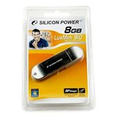Накопитель Flash USB Drive Silicon Power LuxMini 910 8Gb silver   ( Retail)