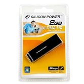 Накопитель Flash USB Drive Silicon Power  Ultima 110 2Gb Black алюминий (Retail)