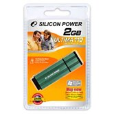 Накопитель Flash USB Drive Silicon Power  Ultima 110 2Gb Green алюминий (retail)