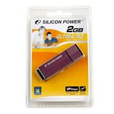 Накопитель Flash USB Drive Silicon Power  Ultima 150 2Gb Purple  80x алюминий (retail)