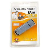 Накопитель Flash USB Drive Silicon Power  Ultima 150 8Gb Gray blue 80x алюминий (retail)