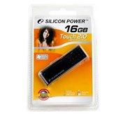 Накопитель Flash USB Drive Silicon Power Touch 210 16Gb Black (Retail)