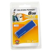 Накопитель Flash USB Drive Silicon Power Touch 212  8Gb  Blue (Retail)