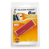 Накопитель Flash USB Drive Silicon Power Touch 212  8Gb  Red  (Retail)