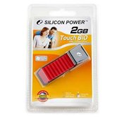 Накопитель Flash USB Drive Silicon Power Touch 610 2Gb Red (Retail)