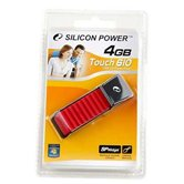 Накопитель Flash USB Drive Silicon Power Touch 610 4Gb Red (Retail)
