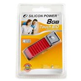 Накопитель Flash USB Drive Silicon Power Touch 610 8Gb Red (Retail)