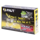 Видеокарта Palit PCI-E GeForce with CUDA GTS250 1Gb DDR3 (256bit) DVI VGA HDMI  Retail