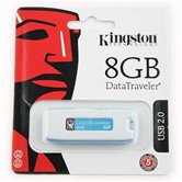 Накопитель Flash USB drive KINGSTON Data Traveler2 8Gb white+blue RET [DTIG2/8Gb]