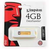 Накопитель Flash USB drive KINGSTON Data Traveler 4Gb RET white+yellow [DTIG2/4Gb]